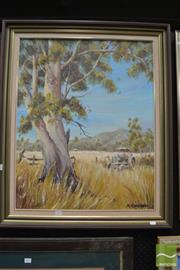 Sale 8487 - Lot 2004 - Merrilee Campbell - In Retirement 75 x 59.5cm