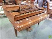 Sale 8539 - Lot 1044 - Ronisch Burr Walnut Baby Grand Piano, with triple crown mark (some veneer losses to legs), L approx 193cm x W 149cm