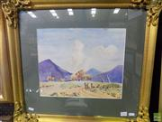 Sale 8557 - Lot 2036 - R. Tulloch - Track to Talbingo, Snowy Mountain, 1953 29 x 36.5cm (frame size: 52.5 x 58.5cm)