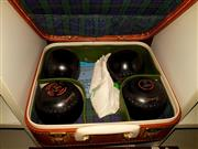 Sale 8663 - Lot 2175 - Set of Lawn Bowls in Case