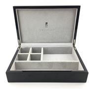 Sale 8657X - Lot 21 - Italian Black Lacquer Wooden Jewellery Box