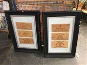 Sale 8707 - Lot 2085 - Framed Wine Box Fronts (2)