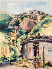 Sale 8781A - Lot 5059 - Frederick Bates (1918 - 2009) - Hills of Hong Kong, 1975 49.5 x 36.5cm