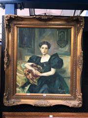 Sale 8797 - Lot 2001 - BS. Esposito - Portrait of a Woman oil on canvas, 80 x 69.5cm (frame)