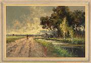 Sale 8871H - Lot 142 - Artist Unknown, French Impressionist landscape, early C20th, oil on canvas, signed. 60cm x 92cm