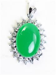 Sale 8997A - Lot 632 - Chinese green pendant
