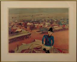 Sale 9150J - Lot 6 - SIDNEY NOLAN (1917 - 1992) The Watchtower lithograph, ed. 28/75 48 x 64 cm signed lower right