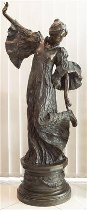Sale 8338A - Lot 46 - A large bronze figure of Tragic Pose from Le Jeu d'escharpe, after Leonard Agathon, H 163cm