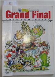Sale 8404S - Lot 19 - 1994 Big League Grand Final Programme, Sept 25 (Vol.75, No.29), Canterbury v Canberra