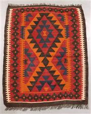Sale 8445K - Lot 93 - Maimana Afghan Kilim Rug , 104x85cm, Handwoven in Northern Afghanistan using durable local wool. Traditional and reversible slit wea...