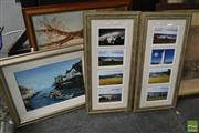 Sale 8487 - Lot 2021 - 2 Artworks: P. Pilkinton, Fishing Village, Oil, SLR; A. Manet, Homestead in Landscape, oil, SLR; Plus 2 set Framed Photos