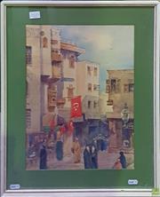 Sale 8600 - Lot 2033 - Artist Unknown - Turkish Mecca Scene, watercolour, 39 x 29cm, unsigned -