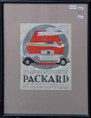 Sale 8636 - Lot 2008 - Packard Vintage Advertisement 47 x 37cm (framed)