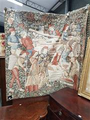 Sale 8831 - Lot 1016 - Brussels Tapestry depicting Medieval Grape Harvest