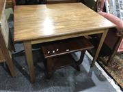 Sale 8962 - Lot 1093 - Quality Aformosa Teak Dining Table (H:68 L:96 W:76cm)