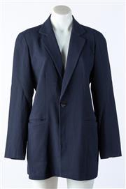 Sale 9003F - Lot 77 - A Savanna suit Jacket in navy blue crepe, size 8