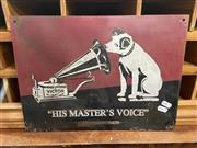 Sale 9063 - Lot 1100 - HMV Tin Sign