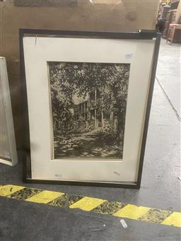 Sale 9111 - Lot 2067 - Hardy Wilson - Richmond Terrace, Lithograph, 33x25cm