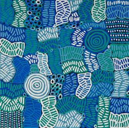 Sale 9128A - Lot 5068 - Betty Mbitjana - Awelye 90 x 90 cm (stretched and ready to hang)