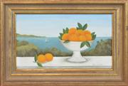 Sale 8358 - Lot 513 - Frances Jones (1923 - 1999) - Pittwater View 14 x 24cm