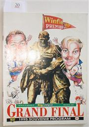 Sale 8404S - Lot 20 - 1995 Big League Grand Final Programme, Sept 20 (Vol.76, No.29), Manly v Canterbury