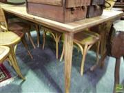 Sale 8545 - Lot 1077 - Oak Scandinavian Dining Table (180cm)