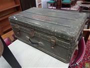 Sale 8601 - Lot 1545 - WW2 military Metal Bound Trunk