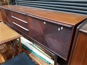 Sale 8684 - Lot 1018 - Danish Rosewood Sideboard with Three Central Drawers and Drop Front Compartment