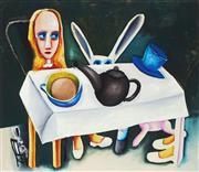 Sale 8838A - Lot 5081 - Charles Blackman (1924 - 2018) - Feet Beneath the Table 66 x 76cm