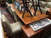 Sale 8851 - Lot 1032 - Modern 9 Piece Dining Suite inc Table and 8 Leather Upholstered Chairs