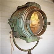 Sale 8908 - Lot 1067 - Bardwell & McCalister Inc Hollywood California 1950s Film Set / Stage Light on Heavy Duty Barton Tripod Base with Hammer Castors, H...