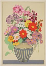 Sale 8896A - Lot 5002 - John Hall Thorpe (1874 - 1947) - Summer Bunch 48 x 33 cm; 51 x 36 cm (sheet)