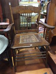 Sale 9006 - Lot 1079 - Rustic Elm Armchair (H:94 x W:62 x D:51cm)