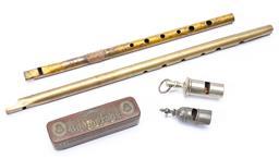 Sale 9130E - Lot 91 - A quantity of wind instruments, Longest 36cm