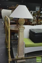 Sale 8398 - Lot 1077 - Stone Column Based Standard Lamp