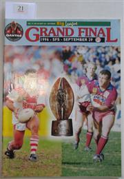 Sale 8404S - Lot 21 - 1996 Big League Grand Final Programme, Sept 29 (Vol.77, No.28), Manly v St George