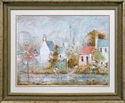 Sale 8415 - Lot 501 - Wilmotte Williams (1916 - 1992) - Woolloomooloo Reflections 45 x 60.5cm