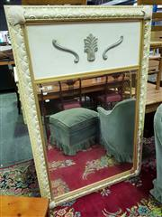 Sale 8562 - Lot 1052 - Timber Framed Trumeau Mirror with Gilded Trim & Sea Shell Border