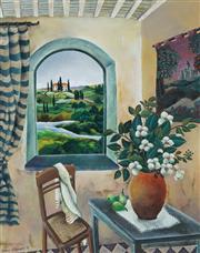 Sale 8773 - Lot 586 - Johanna Hildebrandt (1950 - ) - Tuscany Interior, 1998 38.5 x 48.5cm