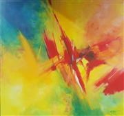 Sale 9053 - Lot 2097 - Claudine Mitaty-Wiseman, Abstract, acrylic on paper on board, 110 x 116 cm, signed lower right