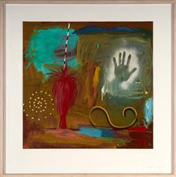 Sale 9103 - Lot 2096 - Ian Pearson (1951 - ) - Into the Mystic, 1988 89 x 91 cm (frame: 120 x 120 x 4 cm)