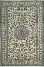 Sale 8345C - Lot 14 - Persian Nain Silk & Wool 306cm x 200cm
