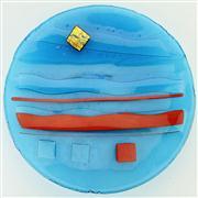 Sale 8372 - Lot 75 - Jill Yelland Art Karijini Range Glass Platter