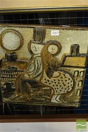Sale 8487 - Lot 2069 - Stone Relief Wall Hanging - Stamped Hogbrand Stengods Soholm Dansk