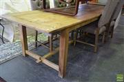 Sale 8562 - Lot 1022 - Recycled Timber Farmhouse Table (290cm)