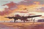 Sale 8781 - Lot 599 - Brian Baigent (1929 - ) - Night Mission Lancaster B111 50 x 76cm