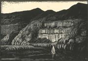 Sale 8896A - Lot 5004 - Lewis Roy Davies (1897 - 1979) - Hawkesbury Battlements 1925 15 x 21.5 cm