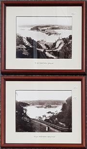 Sale 9011 - Lot 2078 - Pair of reproduction Early Photographs of The Spit, Middle Harbour 1924 and c1900 -