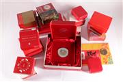 Sale 9035M - Lot 872 - Lunar year animals themed silver proof coins incl. Pert Mint 2004 year of monkey 3 coin collection cert no. 0055/1000