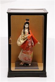 Sale 9052 - Lot 79 - Japanese Doll in Glass Case